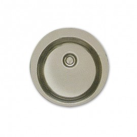 Evier inox 1 bac rond
