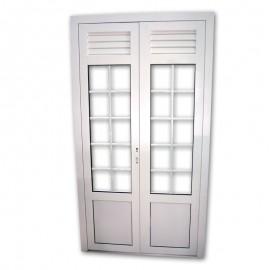 Porte double vitrage ALU 140x220