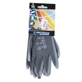 Gants polyamide gris