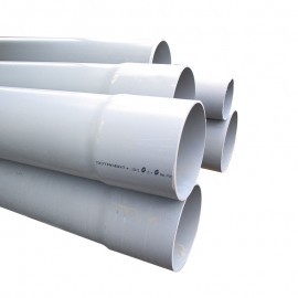 TUYAU EVACUATION en PVC (gros diamètre)
