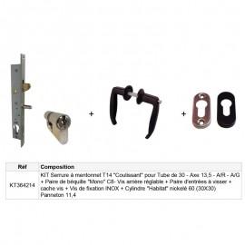 Kit Serrure à mentonnet T14